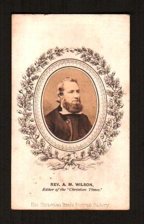 Carte-de-Visite Photograph of the Reverend A. M.: CHRISTIAN TIMES