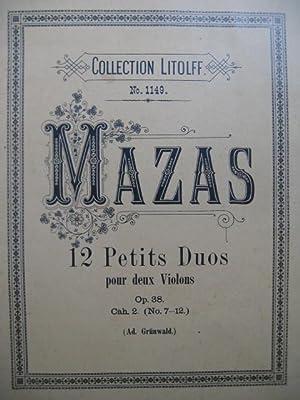 MAZAS F. 12 Petits Duos op. 38: MAZAS F. 12