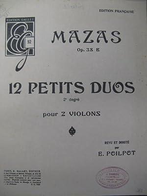 MAZAS F. 12 Petites Duos 2 Violons: MAZAS F. 12