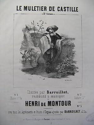 DE MONTOUR Henri Le Muletier Piano et: DE MONTOUR Henri