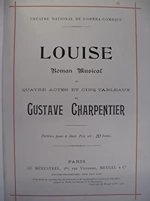 CHARPENTIER Gustave Louise Opéra 1900
