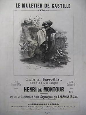 DE MONTOUR Henri Le Muletier Chant Piano: DE MONTOUR Henri
