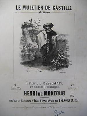 DE MONTOUR Henri Le Muletier Piano Chant: DE MONTOUR Henri
