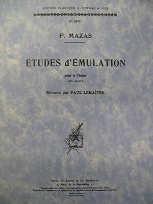 MAZAS F. Etudes d'émulation op36 n°2 Violon: MAZAS F. Etudes