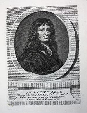 "Guillaume Temple"" - William Temple 1st Baronet (1628-1699) essayist author England Kupferstich ..."