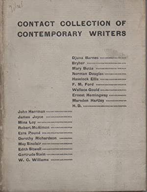 Contact Collection of Contemporary Writers (Barnes, Bryher,: Barnes, Djuna, et