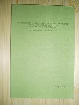 Een vergelijkend onderzoek naar de bijdrage en betekenis van de paleontologie en biologie in het ...