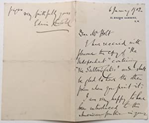 Autographed Letter Signed to an American publisher