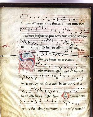 Late 15h century Vellum Gregorian Chant Antiphonal: Unknown
