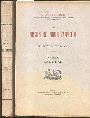 LE MISSIONI DEI MINORI CAPPUCCINI: EUROPA. Sunto: Clemente da Terzorio.
