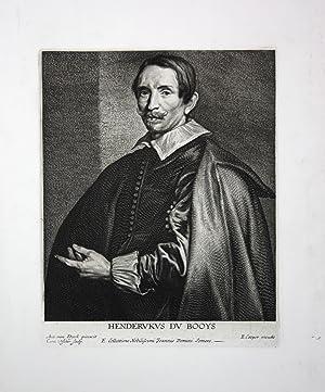 "Henderukus du Booys"" - Hendrik du Bois (1589-1646) Dutch artist art dealer antiquarian Portrait..."