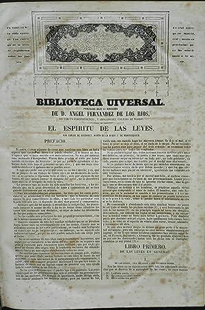 EL ESPIRITU DE LAS LEYES.: MONTESQUIEU.