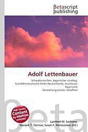 Adolf Lettenbauer: Lambert M. Surhone