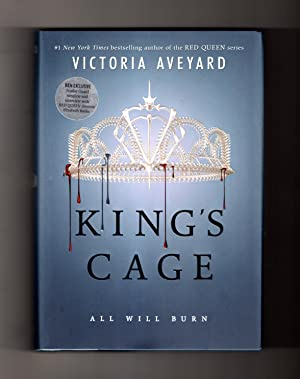 King's Cage: All Will Burn. First Edition, First Printing, Special B&N Edition with Scarlet Guard...