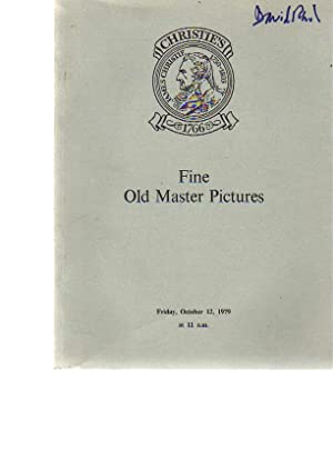 Christies October 1979 Fine Old Master Pictures