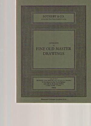 Sothebys March 1975 Fine Old Master Drawings