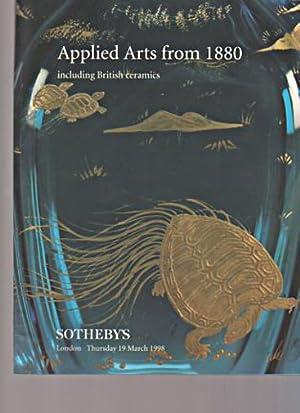 Sothebys 1998 Applied Arts from 1880 &: Sothebys