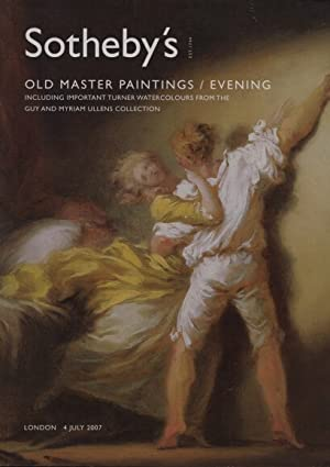 Sothebys 2007 Old Master Paintings & Important Turner