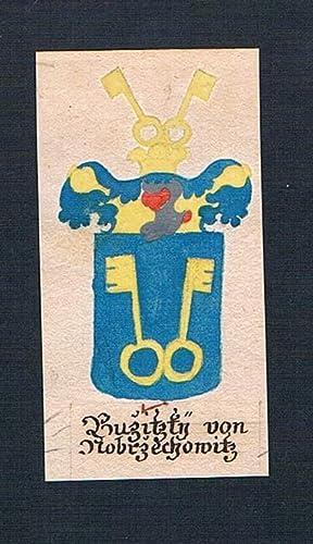 "Buzitzky von Nobrzechowitz"" - Buzitzky von Czechowitz Böhmen Manuskript Wappen Adel coat of ..."