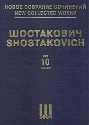 Symphony No. 10. Op. 93. New collected works of Dmitri Shostakovich. Vol.10. Full Score.