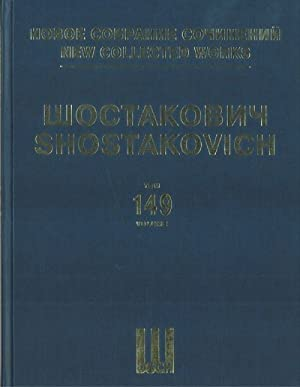 New collected works of Dmitri Shostakovich. Vol. 149. Eight British and American Folksongs. Arran...