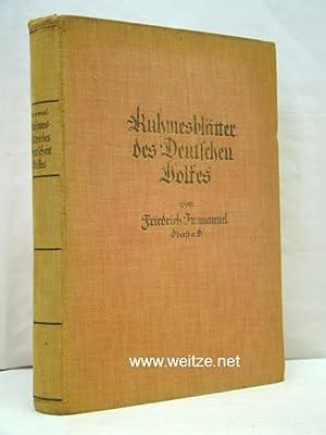 Ruhmesblätter des Deutschen Volkes,: Immanuel, F.,: