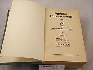 37. Bd. Enthaltend die Eintragungen aus dem Jahre 1938. Stuten: Jahrgang E. Nr. 23848 - 24433. ...
