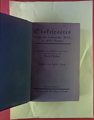 Shakespeares. Sämtliche dramatische Werke in zwölf Bänden. Fünfter ( König Heinrich der Achte; . ) ...