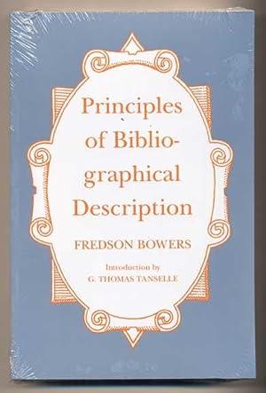 Principles of Bibliographical Description: Bowers, Fredson; Introduction