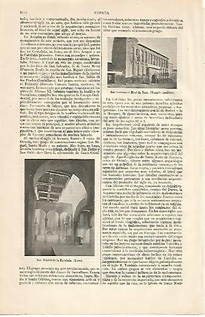 Imagen del vendedor de LAMINA ESPASA 10345: San Miguel de la Escalada de Leon y San Lorenzo el Real de Toro a la venta por EL BOLETIN