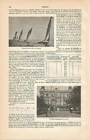 Imagen del vendedor de LAMINA ESPASA 960: Regata en Venecia y Fachada del Club de Regatas de Santander a la venta por EL BOLETIN