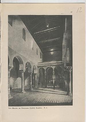 Imagen del vendedor de Arte Hispanico lamina numerada 012: Iglesia de San Miguel de Escalada, Leon a la venta por EL BOLETIN