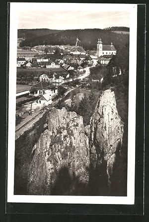 Ansichtskarte Sloup, Moravsky Kras, Ortsansicht