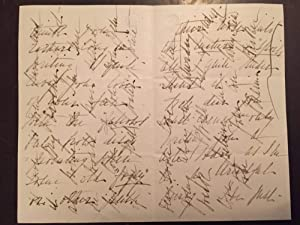 "Six examples of Victorian ""Cross Writing"" on sheets of paper of varying sizes"