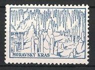 Reklamemarke Moravsky Kras, Tropfsteinhöhle