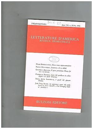 Letterature d'America, rivistra trimestrale. Anno VII n°: PUCCINI dario direttore.