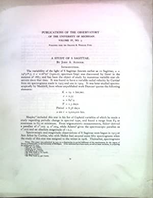 A study of S Sagittae; Publications of: Aldrich, John A.:
