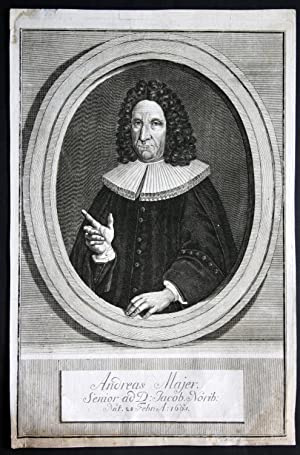 """Andreas Majer"""" - Andreas Majer Maier Nürnberg Potrait Kupferstich engraving: Beck, T. G.:"""