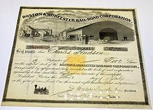BOSTON & WORCESTER RAIL-ROAD (RAILROAD) CORPORATION.: Unknown.