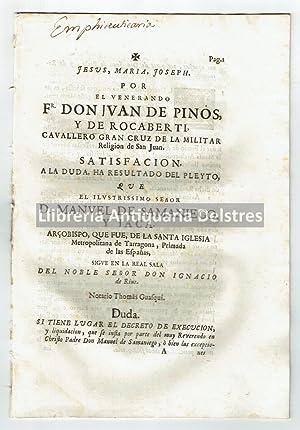Por el venerando Fr. Don Ivan de: Tarragona]