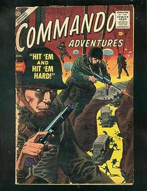 COMMANDO ADVENTURES #2 1957-PARACHUTE COVER-SEVERIN-WAR-good G