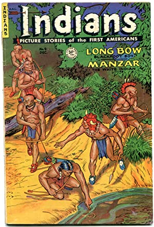 INDIANS #9 1951-MANZAR-LONG BOW-Golden Age Fiction House Western G/VG