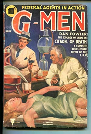 G-MEN 10/1939-THRILLING-MAD DOCTOR-INJECTION-DAN FOWLER-vg minus