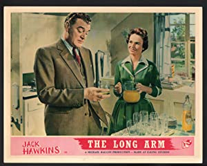 Long Arm Lobby Card-Jack Hawkins having juice with Dorothy Alison.