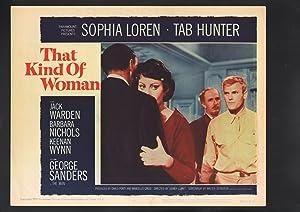 That Kind of Woman Lobby Card #4-1959-Sophia Loren