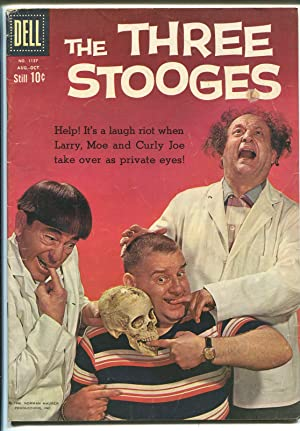 Four Color Comics #1127 1960-Three Stooges-photo cover-skull-VG/FN