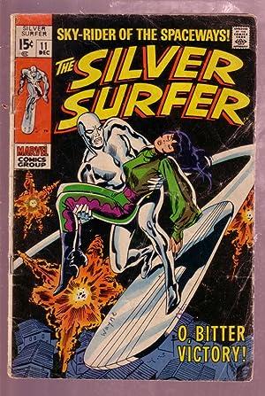 THE SILVER SURFER #11 1969-JOHN BUSCEMA SUPER HERO ART G