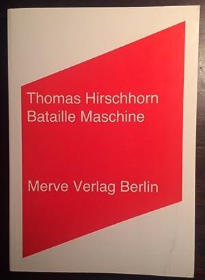 Thomas Hirschhorn. Bataille Maschine. 256 B.: Hirschhorn, Thomas - Steinweg, Marcus.