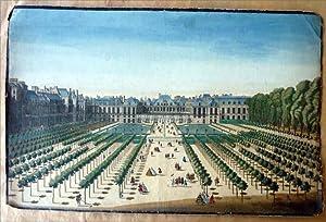Une vue d'optique représentant l'ancien Palais Royal: Anonyme
