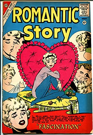 Romantic Story #50 1960-Charlton-stylish moody romance thrills-heart imagery-FN-
